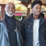 Richard Mofe-Damijo with his son Oghenekome Mofe Damijo