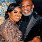 Richard Mofe-Damijo with his wife Jumobi Adegbesan