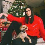 Stefanie Dolson with her pet dog