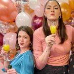 Stefanie Dolson with her sister Ashley Dolson