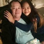 Sunisa Lee with her father John Lee