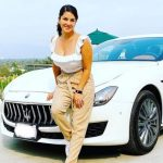 Sunny Leone with her car