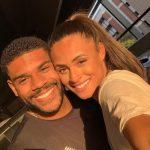 Sydney McLaughlin with her boyfriend Andre Levrone Jr.