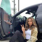 Sydney McLaughlin with her car
