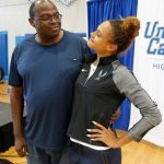 Sydney McLaughlin with her father Willie McLaughlin