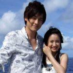 Yûki Furukawa with his girlfriend