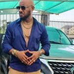 Yul Edochie with his car