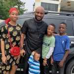 Yul Edochie with his sons and daughter