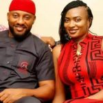 Yul Edochie with his wife May Yul-Edochie