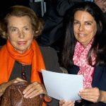 Françoise Bettencourt Meyers with her mother Liliane Henriette Charlotte Bettencourt