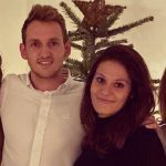 Niklas Wellen with his girlfriend Kim Draisaitl