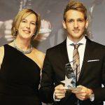 Niklas Wellen with his mother