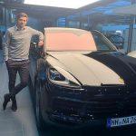 Tobias Hauke with his car